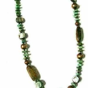 Silpada Green Howlite Abalone Pearl Silver Pendent